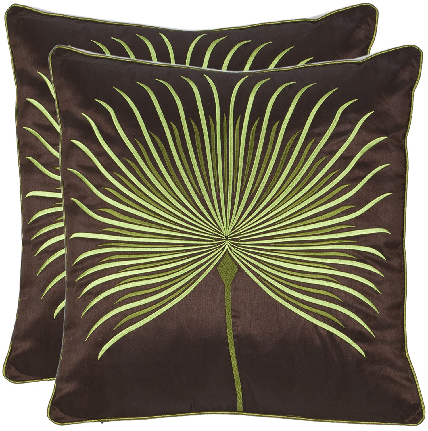 amazoncom safavieh pillow collection inch dandelion pillow  - amazoncom safavieh pillow collection inch dandelion pillow brown andgreen set of  home  kitchen