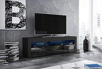 Mex Mobile TV Design Schwarz Matt mit Schwarz glänzend. Beleuchtung ...