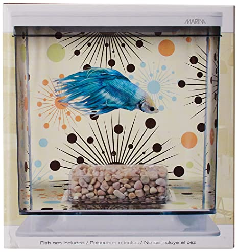Amazon.com : Marina Betta Aquarium Starter Kit, Boy Fireworks : Space Themed Gifts : Pet Supplies