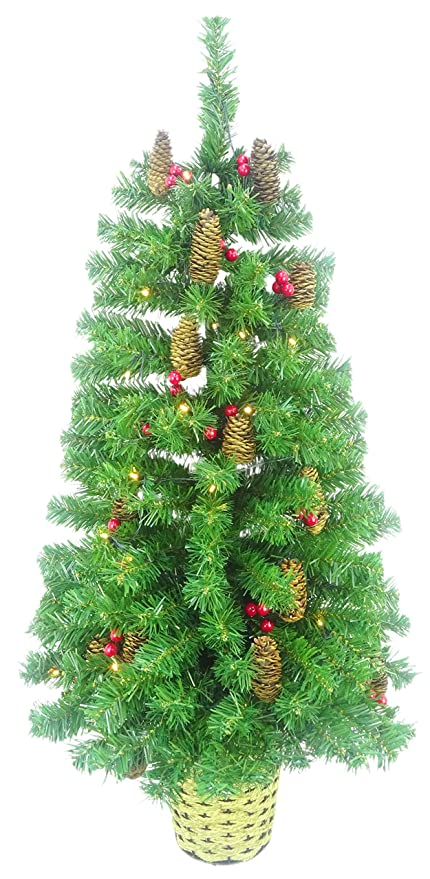 Image Unavailable - Amazon.com: Christmas Concepts 3ft (90cm) Green Pre Lit Wall Mounted