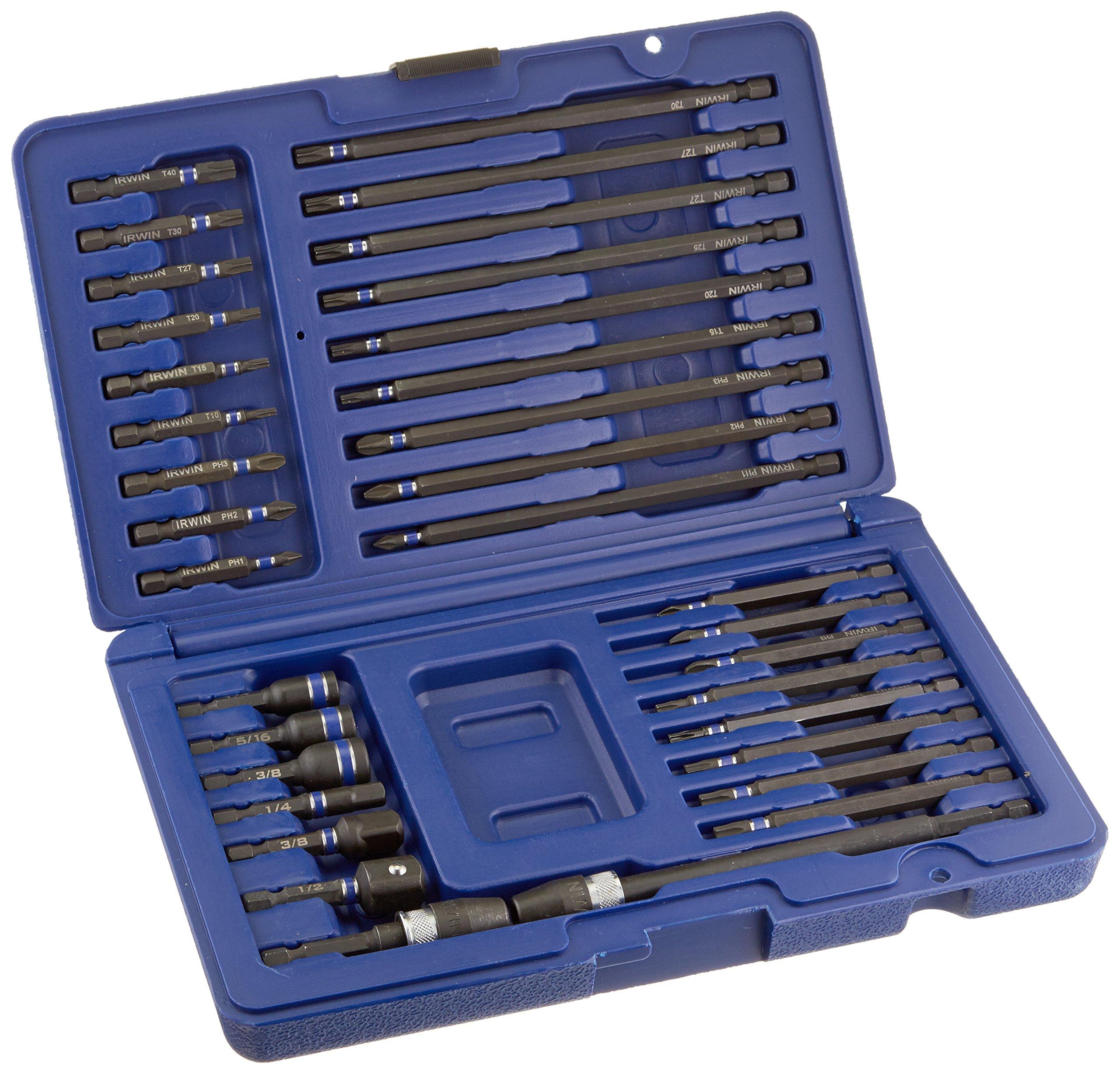 IRWIN Tools 34-Piece Impact Series Automotive Fastener Drive Bit Set (1840391)