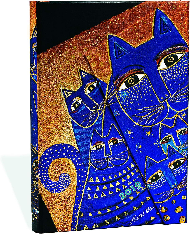 Paperblanks Agenda 2019 con marcapáginas. & Bolsillo Interior | Gatos del Mediterráneo | Semana para Semana + Notas (Verso) | Mini (140 x 100 mm): Amazon.es: Oficina y papelería
