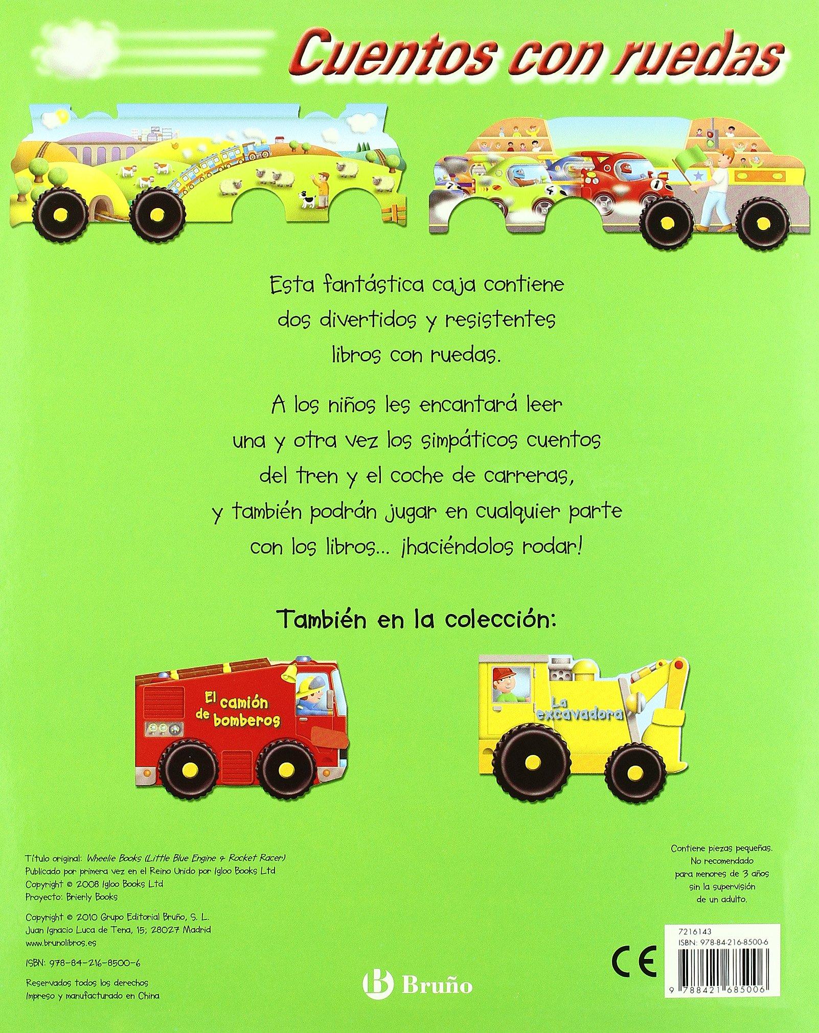 Cuentos con ruedas (El tren + El coche de carreras) (Cuentos con ruedas / Wheelie Books) (Spanish Edition): Kathryn Jewitt, Gerald Hawksley: 9788421685006: ...