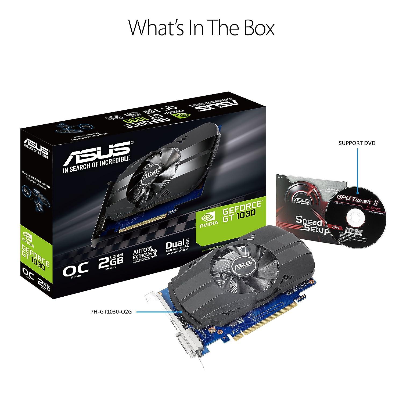 ASUS - PH-GT1030-O2G GeForce GT 1030 2GB GDDR5 - Tarjeta ...
