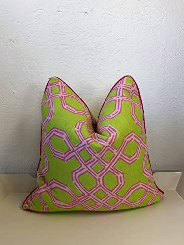 Strange Amazon Com Lilly Pulitzer Well Connected Pillow Green Uwap Interior Chair Design Uwaporg