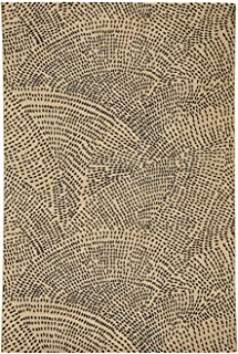 "product image for Capel Etching Beige 5' 3"" x 7' 6"" Rectangle Machine Woven Rug"