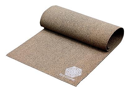 Eco Corner Textured Cork Yoga Mat Large Brown