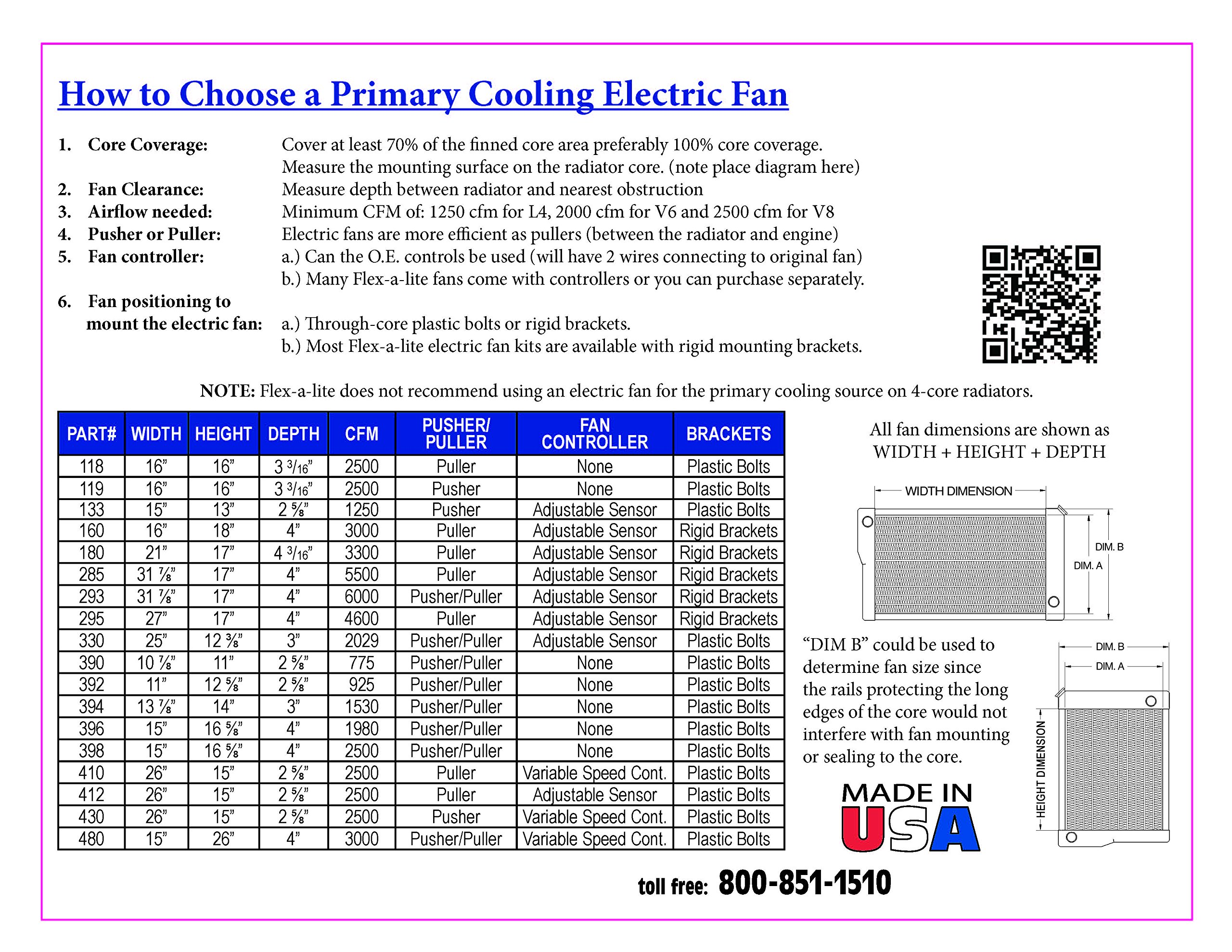 Flex-a-lite 295 27'' Dual Electric-Fan System with Variable Speed Controller