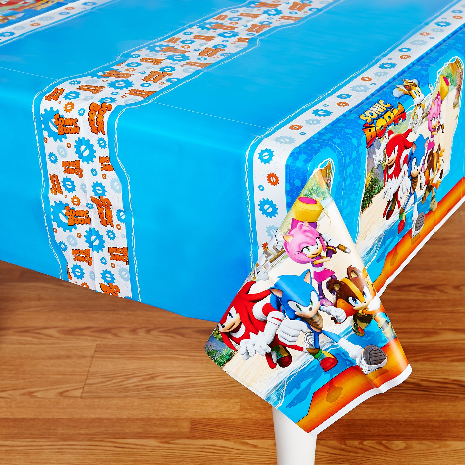 BirthdayExpress Sonic Boom Party Supplies - Plastic Tablecover