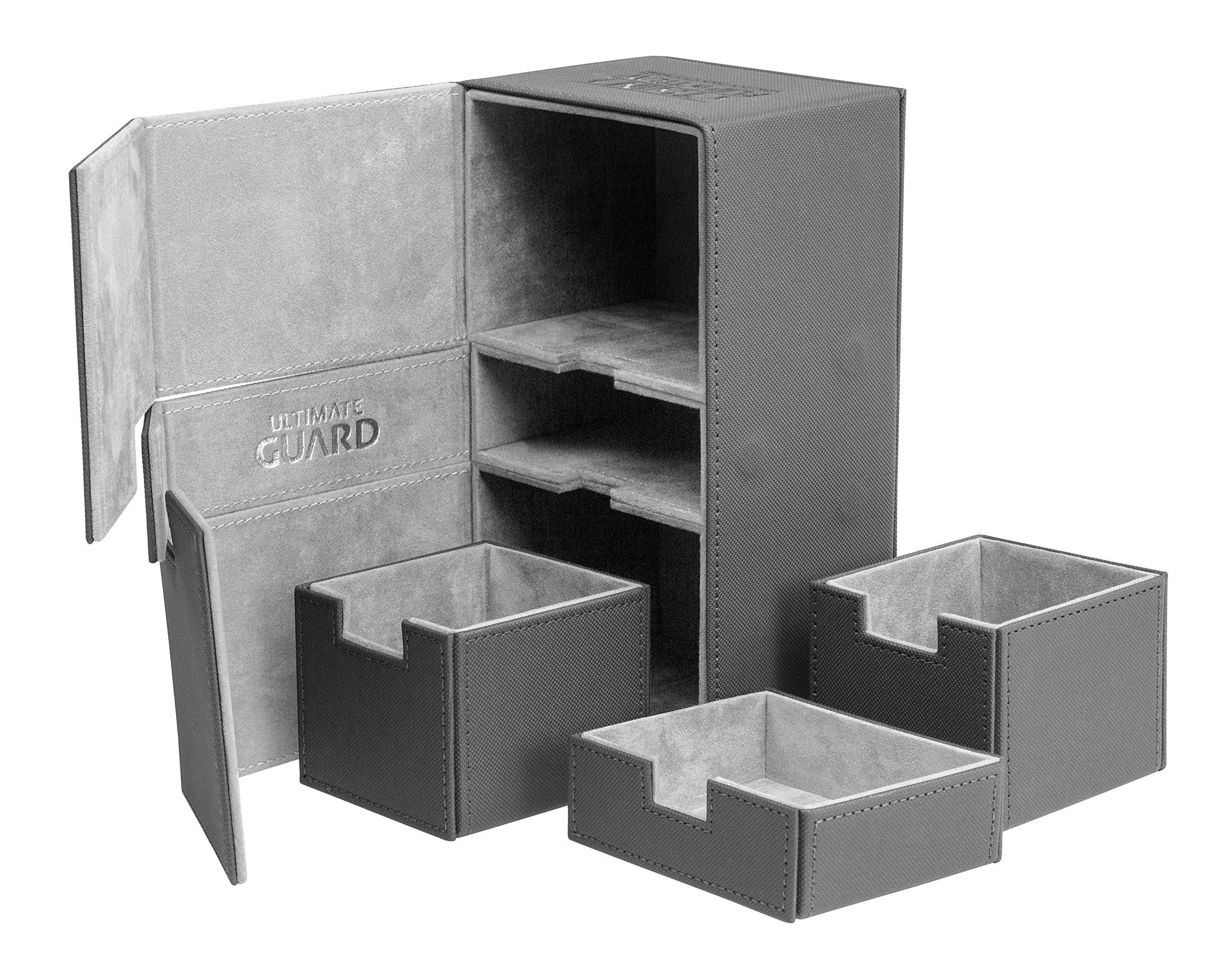 Ultimate Guard 200 Card Twin Flip N Tray Xenoskin Deck Case, Grey