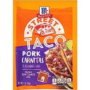 McCormick Street Taco Pork Carnitas Seasoning Mix, 1 oz
