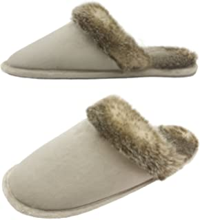 c8c6b393a6b0 Finoceans Slippers Men s Women s Faux Fur House Bedroom Indoor Outdoor  Winter Shoes