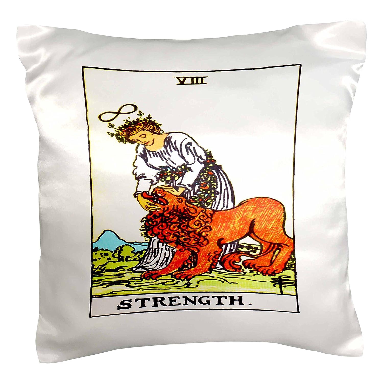 3dRose pc/_62442/_1 Tarot Card The Strength-Pillow Case 16 by 16