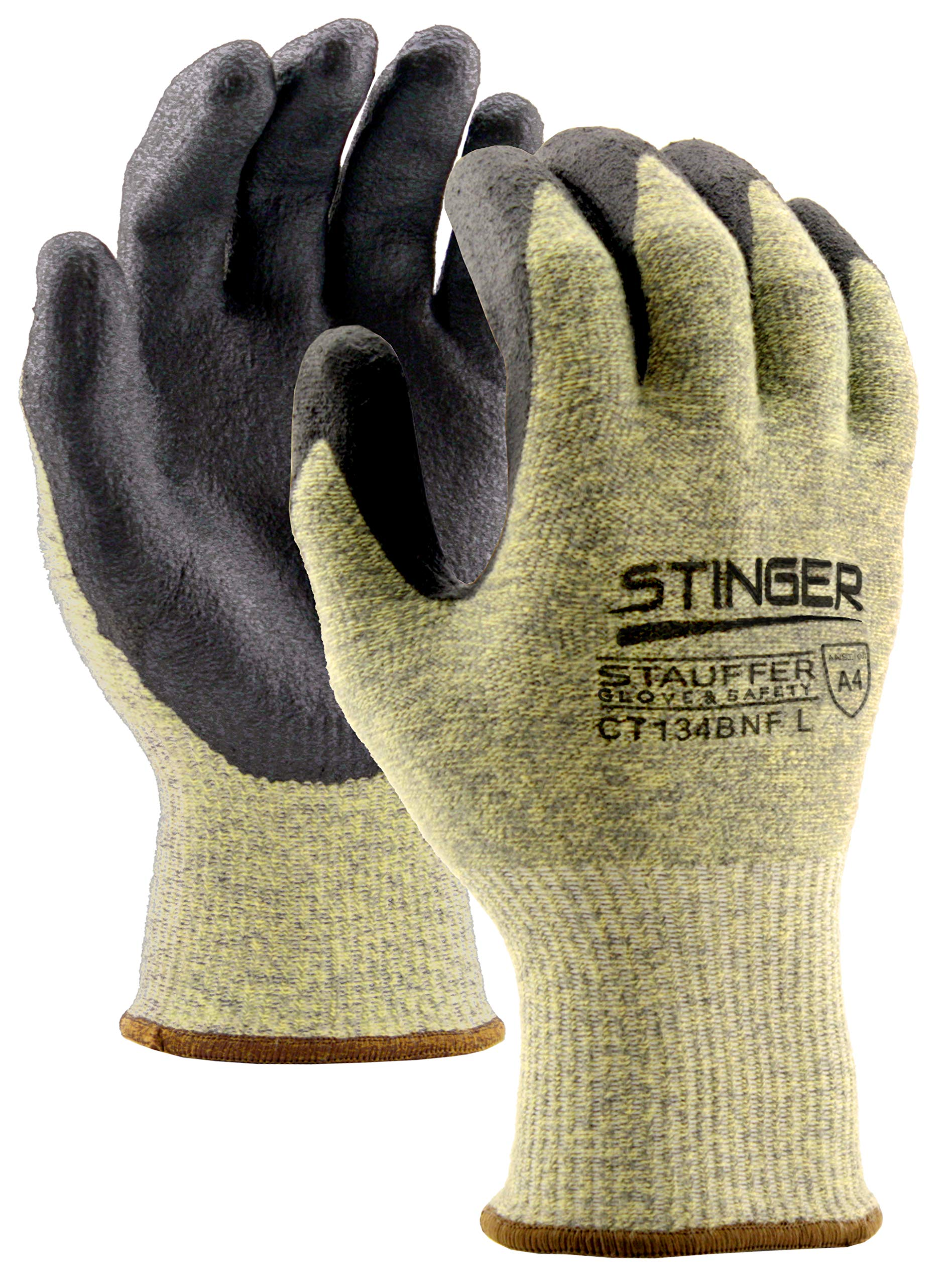 Stauffer Stinger™ Cut Resistant Glove with Nitrile Foam Coating, Cut Level A4, Large, (Pack of 12)