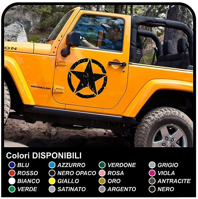 1 opinioni per Adesivi portiera Jeep Wrangler STELLA militare consumata cm 50 offroad stella