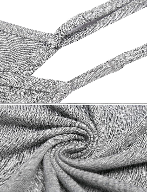 Unibelle dam topp halshållare ärmlös blus spagetti bygel lös kamouflage linne tröjor S-XXL grå