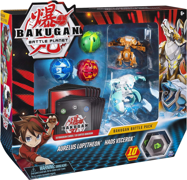 Bakugan Battle Pack, 5 Bolas: 3 clásicos y 2 Ultra, Leviathan Azul ...