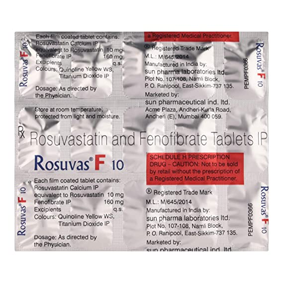 Rosuvas F 10 - Strip of 15 Tablets: Amazon.in