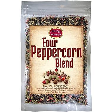 Four Peppercorn Blend-8oz-Rainbow Blend Four Color Peppermill Blend