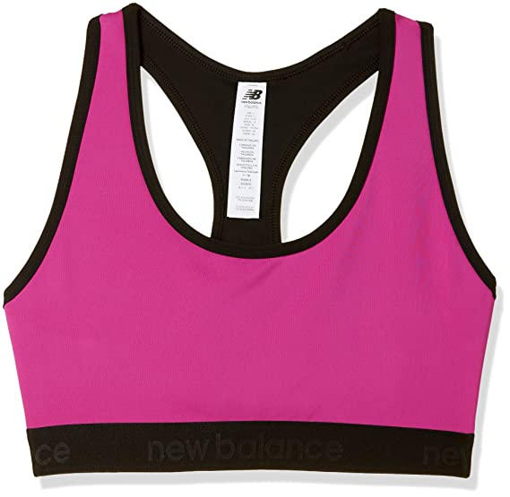 87a1a1d9563ff new balance Women's Full Cup Sports Bra (WB71858_Azalea_Medium): Amazon.in:  Clothing & Accessories