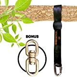 Tree Swing Straps Hanging Kit for Outdoor Swing with bonus pack - New Extra Long10 Ft Strap Holds 2800 Lbs, Fast & Easy Way to Hang Any Swing Set
