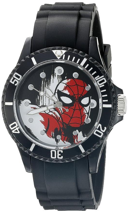 Marvel Spider-Man Men's W002561 Spider-Man Analog Display Analog Quartz Black Watch