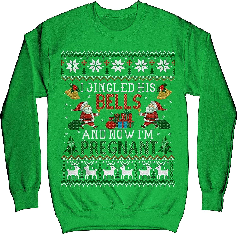 TeeLucky Humor Pregnancy Announcement for Mom Ugly Christmas Sweater Sweatshirt