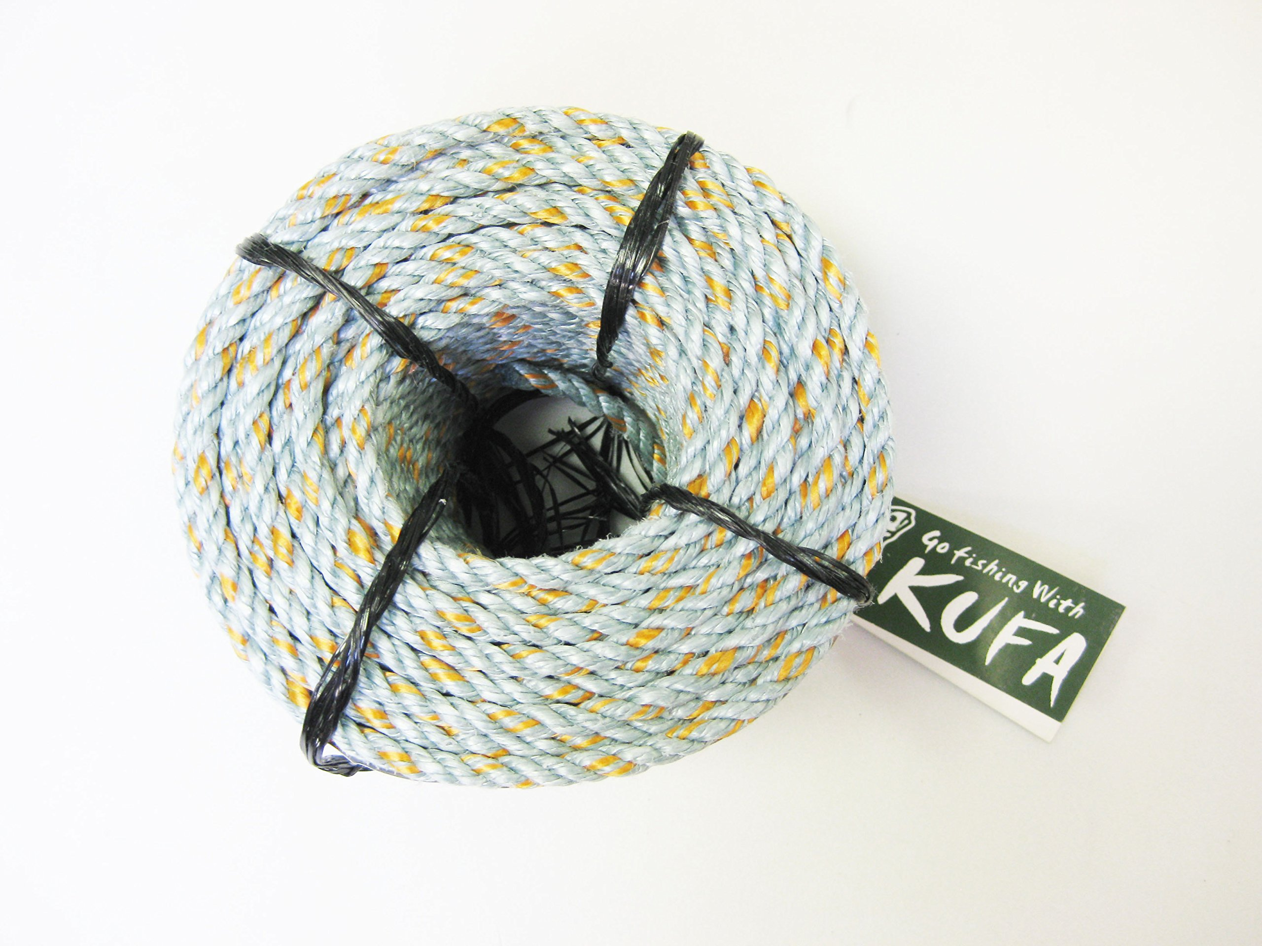 KUFA Sports 1/4'' Lead Core Line, 100-feet length lead core sinking rope for Crab Trap LQ1