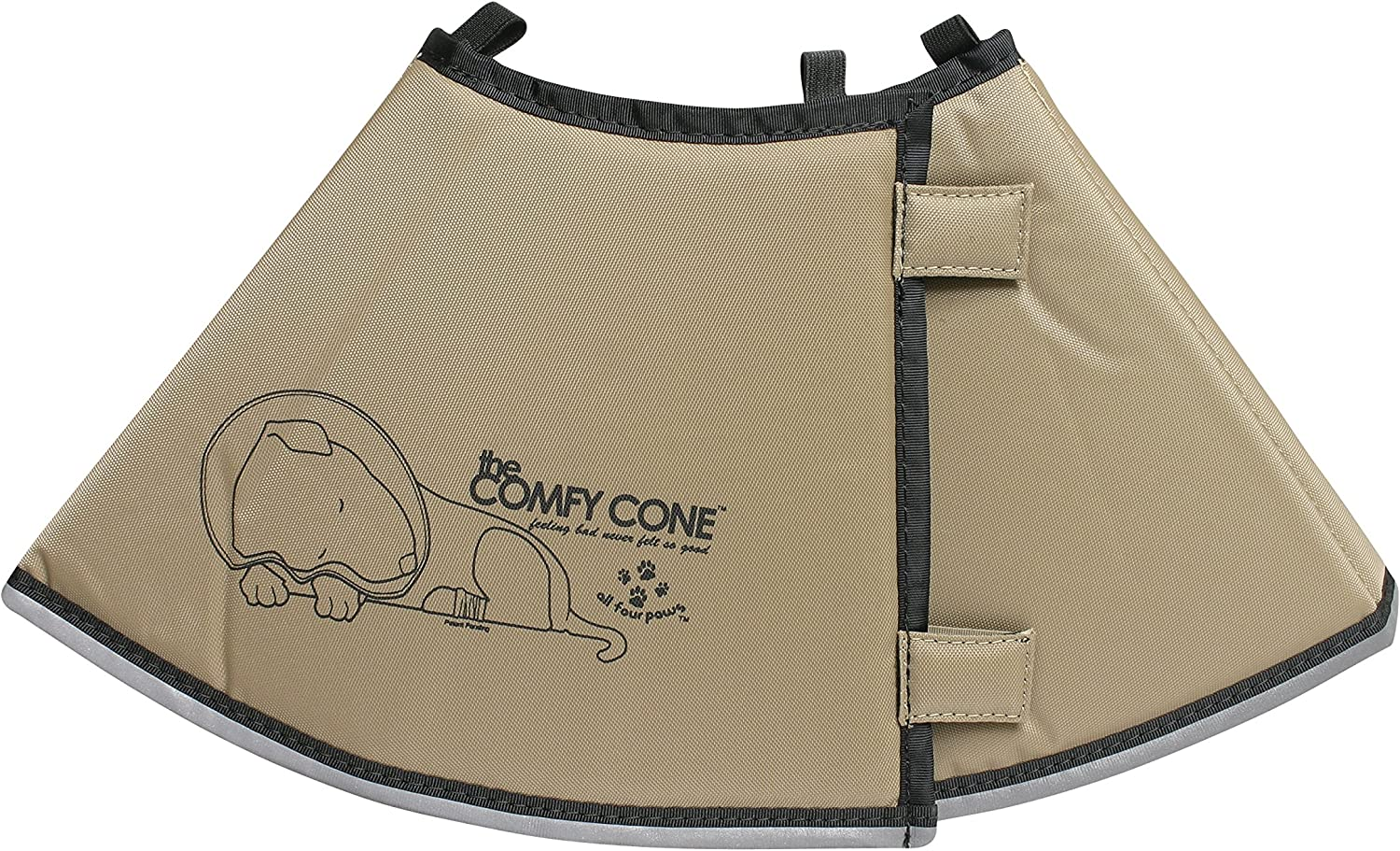 The Original Comfy Cone, Soft Pet Recovery Collar with Removable Stays