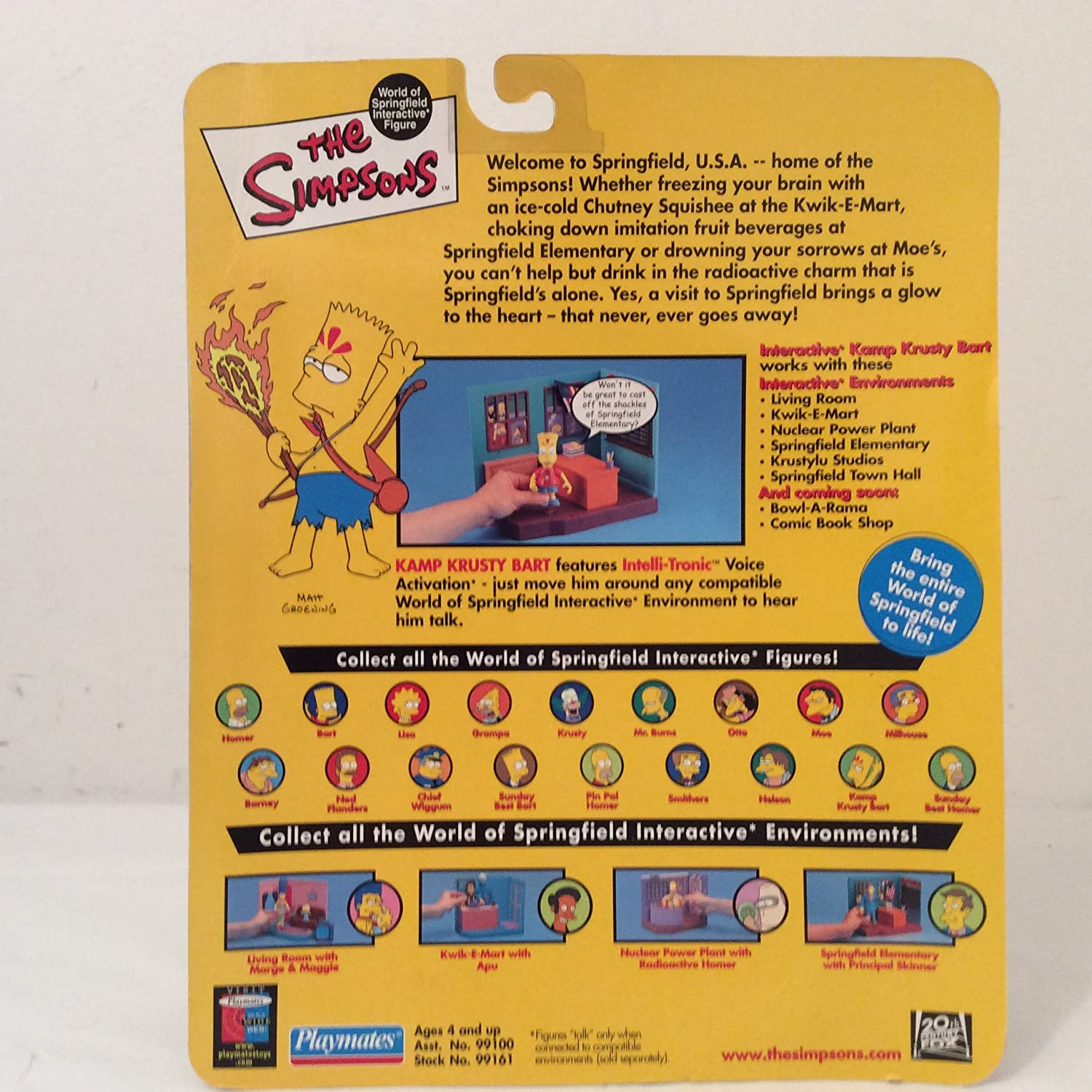 The Simpsons World of Springfield Interactive Figure Playmates