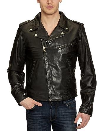 b0ceeb56b96 Schott NYC LC1140 Men s Jacket Vint. Black Medium  Amazon.co.uk ...