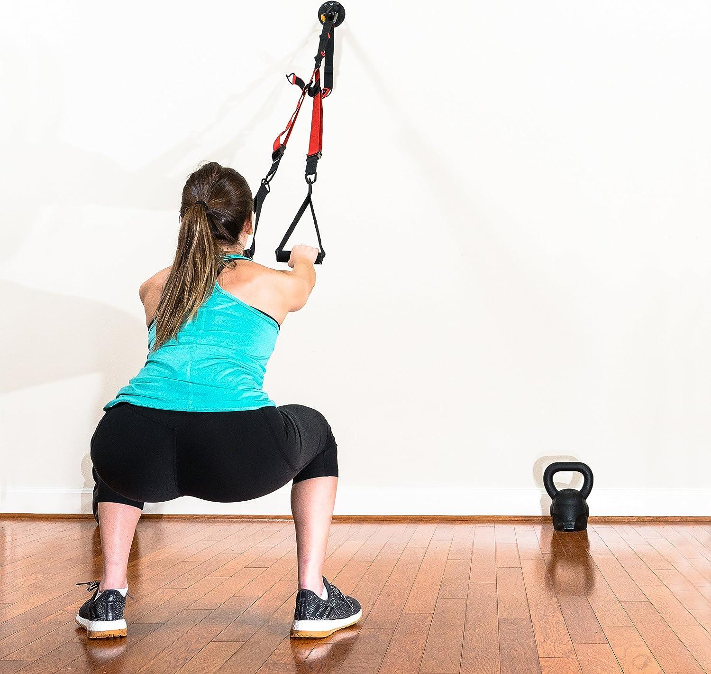 WNG Brands Suspension Trainer Wall Ceiling Mount Set - Heavy-Duty Anchor Bracket for Crossfit, Olympic Gymnastics Rings, Yoga Swing & Hammock, ...