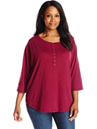 57311fa190c Riders by Lee Indigo Women s Plus-Size Sassy 3 4 Sleeve Knit Shirt