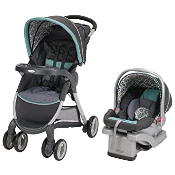58e2dd6d9 Amazon.com : Graco Fastaction Fold Click Connect Travel System, Affinia  (Discontinued by Manufacturer) : Baby