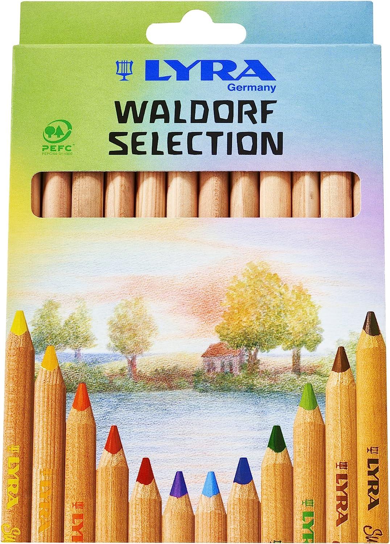Lyra Súper Ferby Waldorf Selección 3711121 Lápices Colorear 12 surtidos colores naturales en Caja