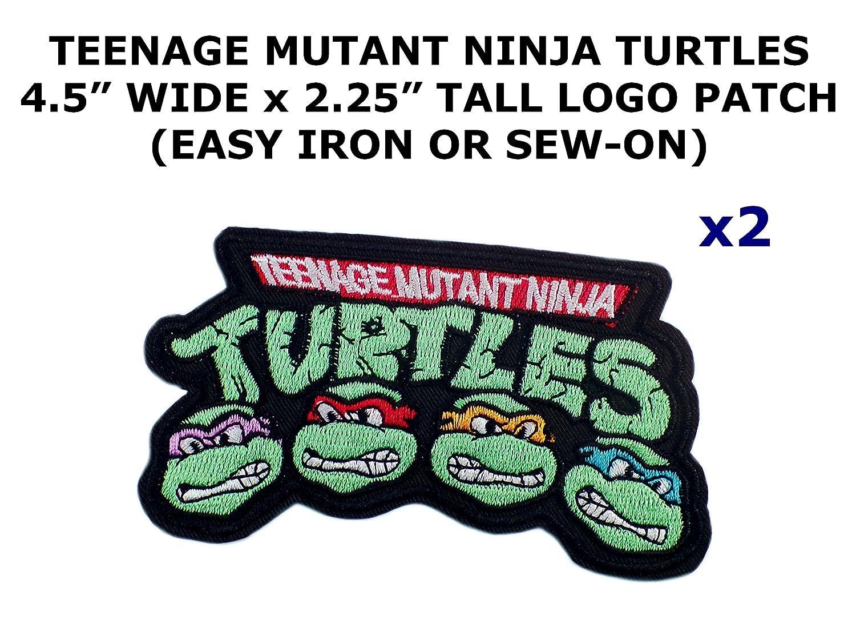 2 pcs Teenage Mutant Ninja Turtles Tema DIY hierro/coser ...