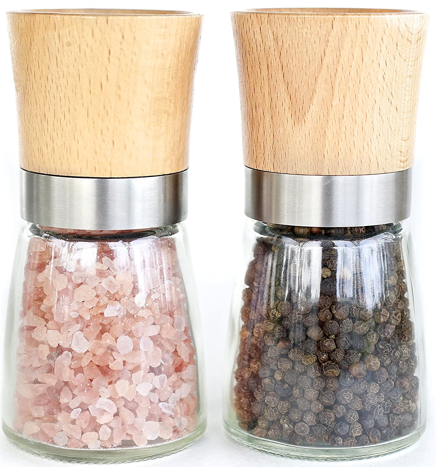 Amazon Willow & Everett Salt and Pepper Shakers Wood Salt and