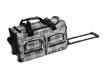 22f86baae1 Image Unavailable. Image not available for. Color  Rockland Luggage 22 Inch Rolling  Duffle Bag ...