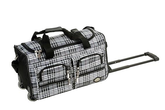 Amazon.com   Rockland Luggage 22 Inch Rolling Duffle Bag, Black ...
