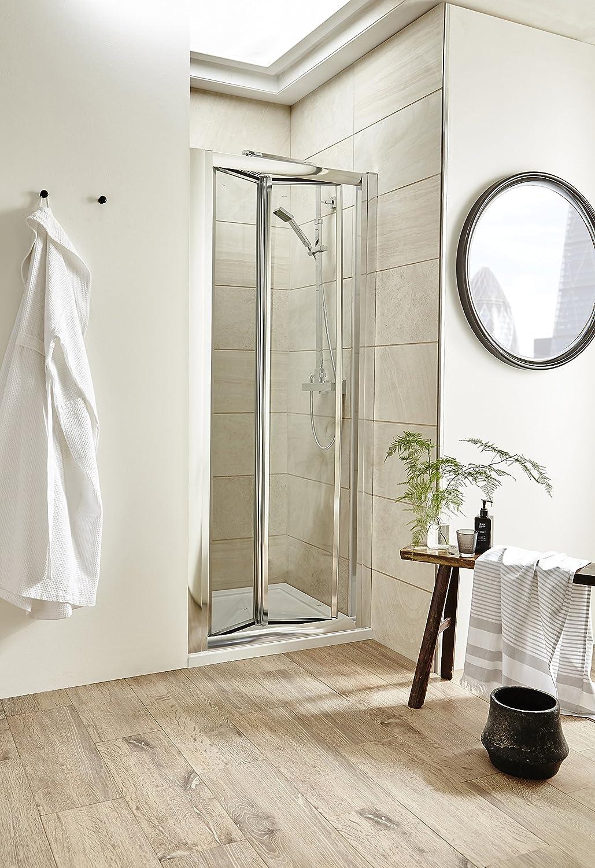 VeeBath Jade Moderno Baño 900 mm cromado mampara de ducha de fácil ...