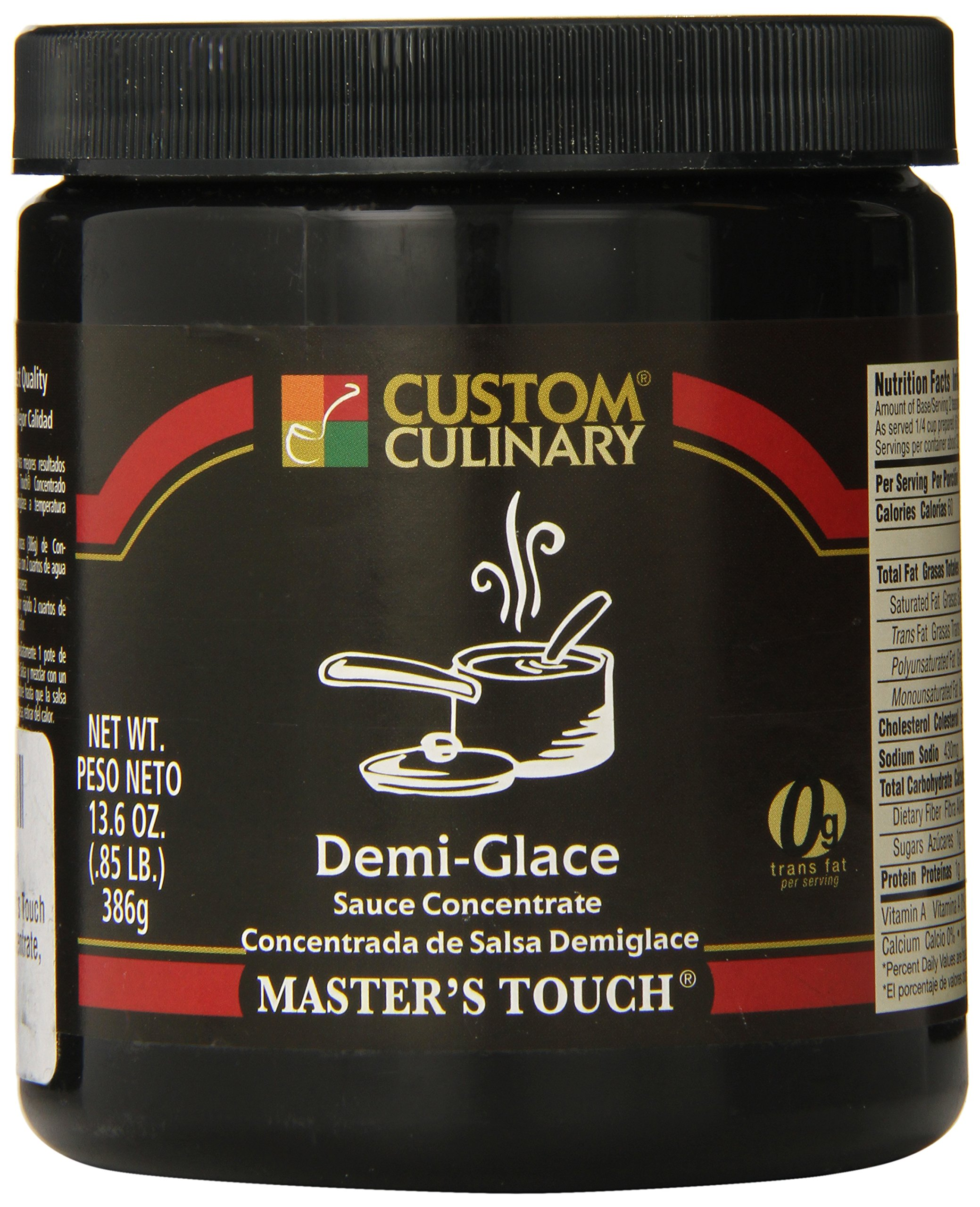 Amazon.com : Custom Culinary Masters Touh Concentrate, Demi Glace Sauce, 13.6 Ounce : Grocery & Gourmet Food