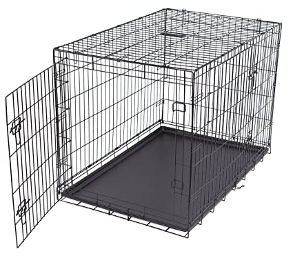 Amazon.com : Internet\'s Best Double Door Steel Crates Collapsible ...