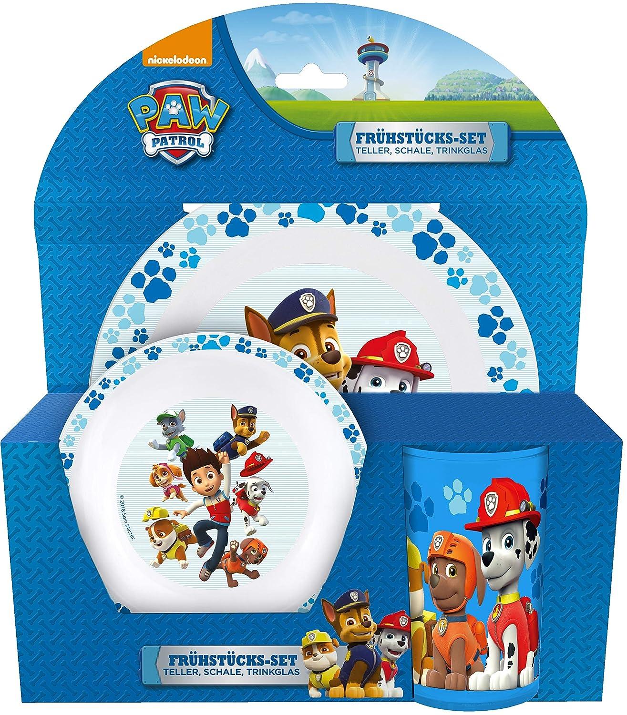 Paw Patrol enfants Petit-Set 3 pièces en mélamine enfants vaisselle