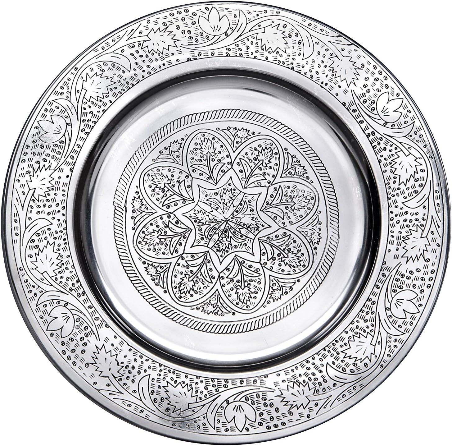 VERSILBERTES TABLETT rund schlicht Ø 21,5 cm neu Silber Tabletts Servierplatte