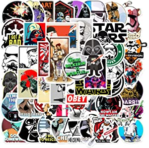 Hot American Movie Stickers Star War Stickers  50 Pcak   Vinyl Waterproof Stickers for Laptop,Bumper,Water Bottles,Computer,Phone,Hard hat,Car Stickers and Decals,Adults Kids Teens for Stickers (Star War)