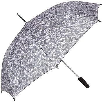 IKEA KNALLA paraguas plegable, gris y blanco