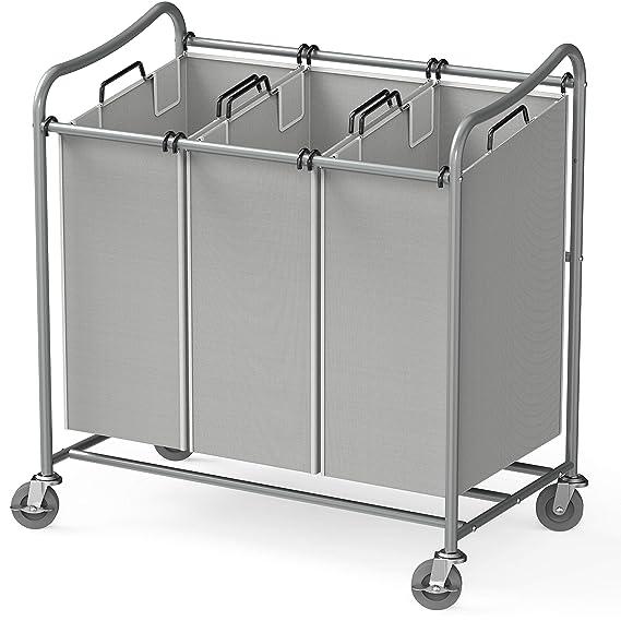 Amazon.com: Simple Houseware - Carro de rodillos para la ...