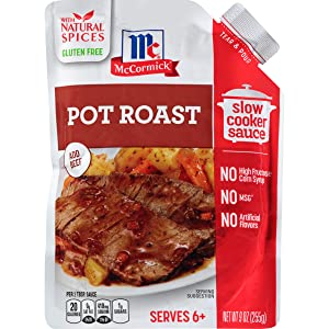 McCormick Slow Cookers Pot Roast Slow Cooker Sauce with Caramelized Onion & Cracked Black Pepper, 9 oz (Pack of 6)