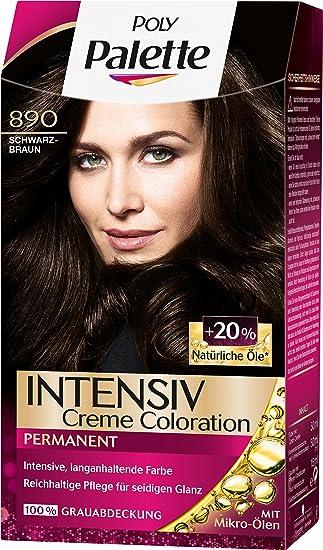Poly Palette Intensiv Crema Coloration, 890 marrón oscuro nivel 3, 3 unidades (3 x 115 ml)