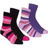 4 Pair Ladies Cosy Soft Fleece Non Slip Slipper LoungeThermal Bed Socks